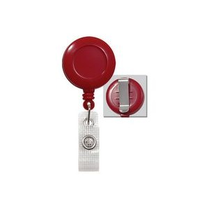 Round Plastic Clip-On Fast Ship Badge Reel (Red)