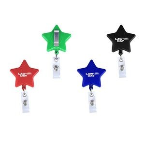 Star Retractable Badge Reel with Metal Clip