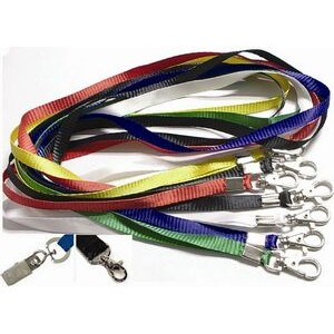 "Polyester Lanyard with Metal Clip (18""x3/8"")"