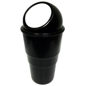 Cupholder Trash Can - Black