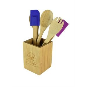 "Bamboo Utensil Holder 4 1/4"" x 6"""