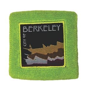Athletic Sweatband with Embroidered Patch