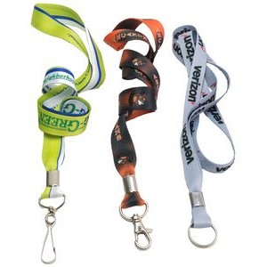 "3/4"" Full Color Dye Sublimation Lanyard"