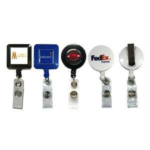 Square Badge Retractable - Square