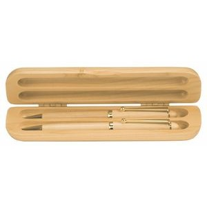 Maple Wood Pen/ Pencil & Case Set