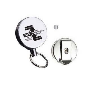 Round Metal Clip-On Badge Reel