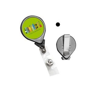 Large Round Plastic Clip-On Dome Badge Reel