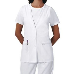 Cherokee® Women's Button-Front Vest Scrub Top
